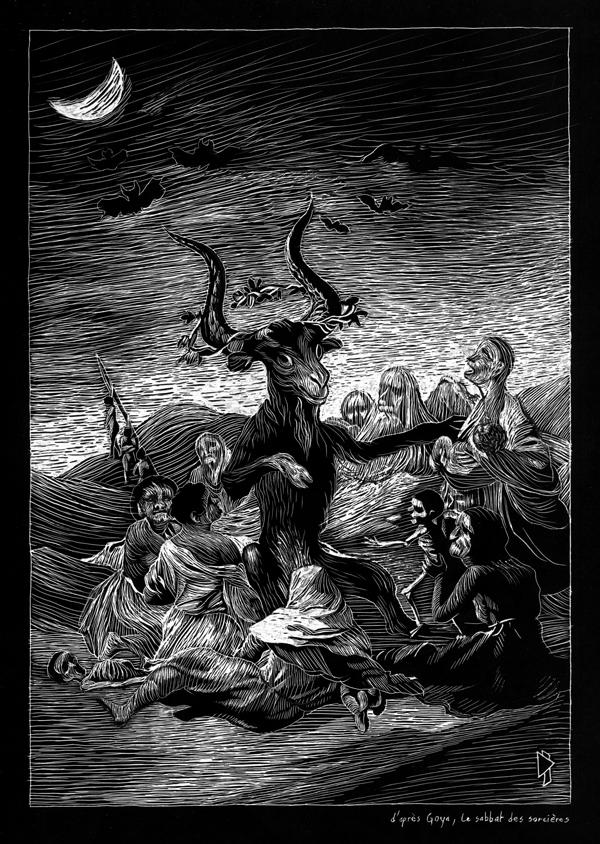 gwen tomahawk Francisco de Goya le sabbat des sorcières