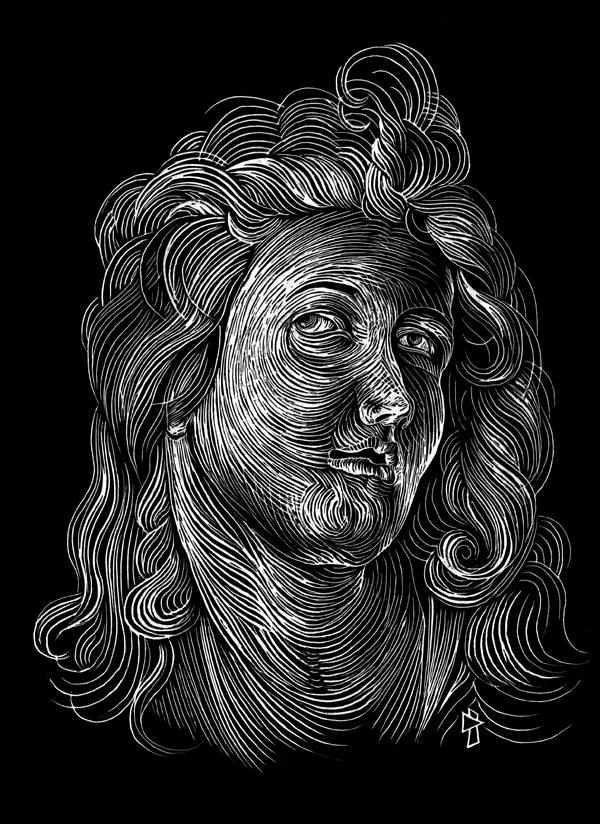 """gwen tomahawk Albrecht Dürer """"Tête d'ange"""""""