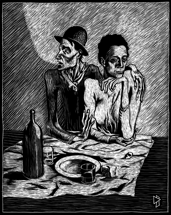 gwen tomahawk pablo picasso le repas frugal meal