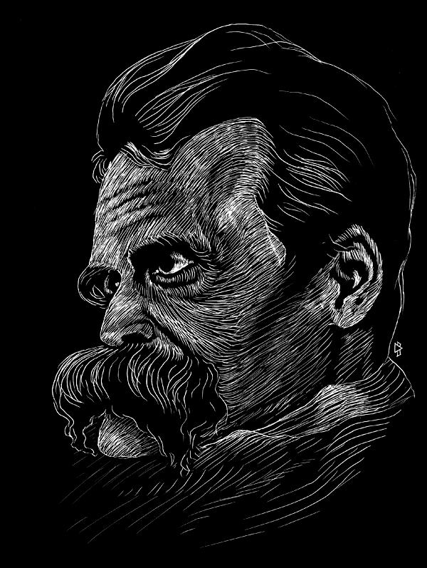 "gwen tomahawk D'après Hans Olde ""Friedrich Nietzsche"" (1899/1900)"