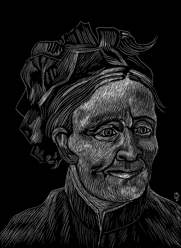 gwen tomahawk vincent van gogh Portrait de la mère de l'artiste 1888