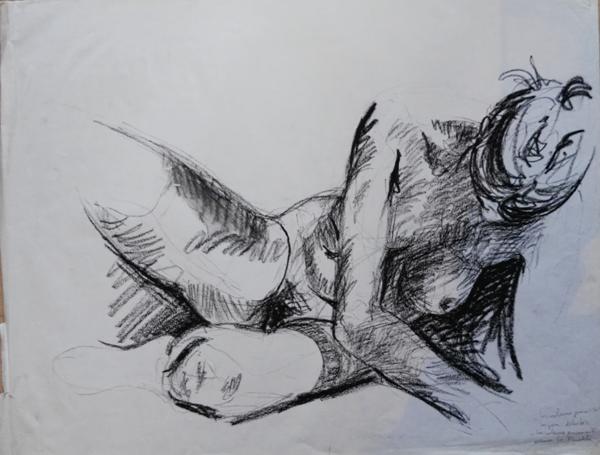 Gwen Tomahawk Modèle vivant Nu Nude Drawings