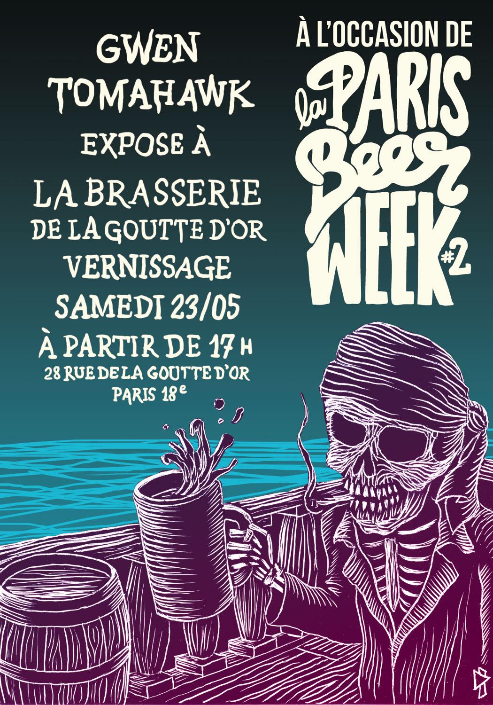 Gwen Tomahawk Paris Beer Week La Brasserie de la Goutte d'Or