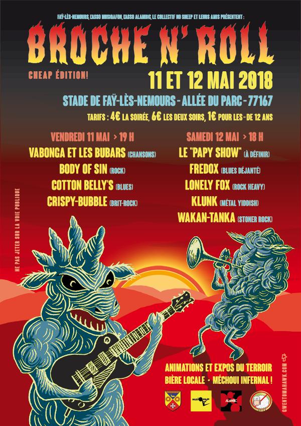 Gwen Tomahawk Festival Broche N' Roll Concerts Expos Mechoui