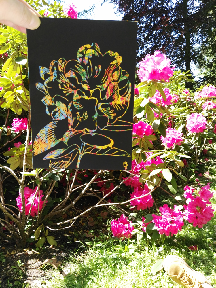 Gwen Tomahawk In Situ Parc du Château de Fontainebleau Jardin Anglais Rhododendron
