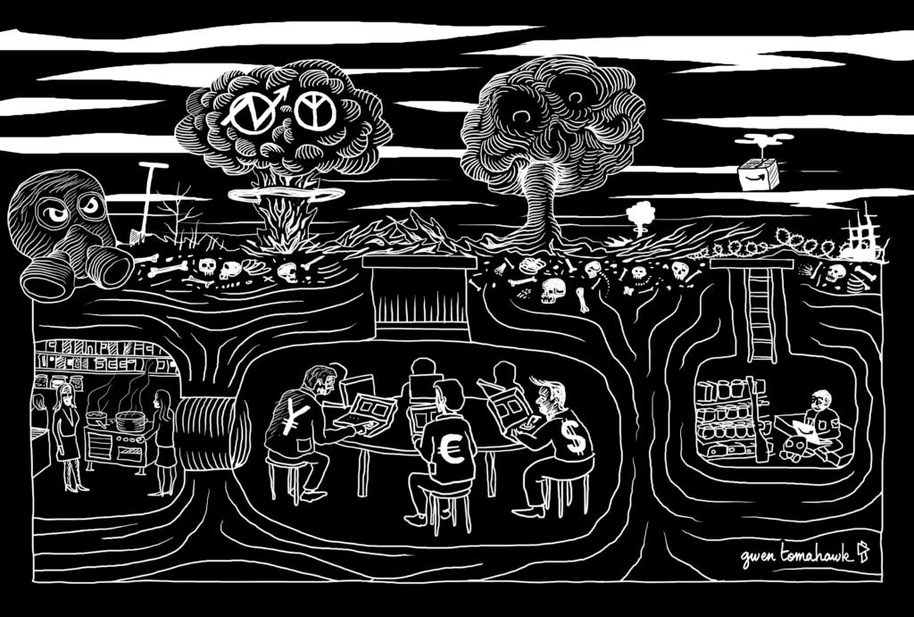 CQFD Gwen Tomahawk Illustration Apocalypse Graphisme Fontainebleau
