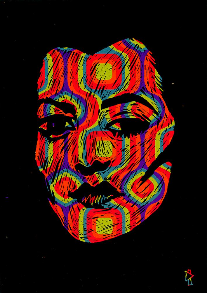 Gwen Tomahawk Illustrateur Fontainebleau Scratchboard colors Liz Castelletti