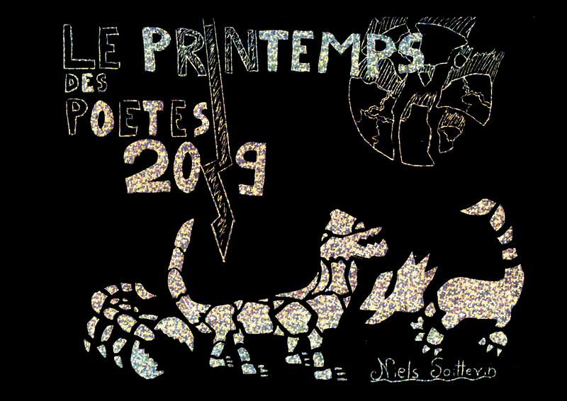 FLC-MJC Fontainebleau Printemps des poètes 2019 Stage Art Graphique et Poétique Cartes à gratter et Pochoirs (9-15 ans) Gwenael Bossion Exposition Théâtre de Fontainebleau Graphiste Illustrateur Seine-et-Marne Cours de dessin